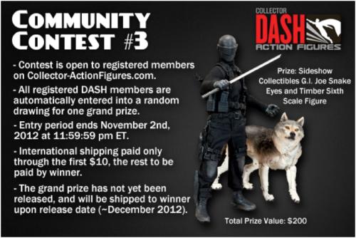 collector dash contest