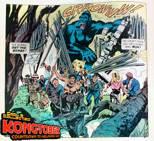 giant classic king kong comic book
