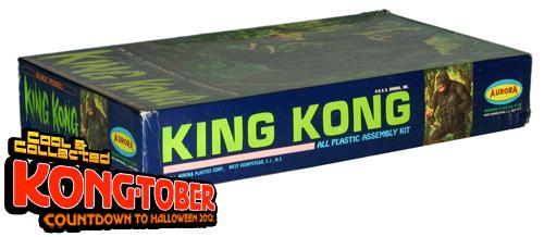 vintage 1966 king kong aurora model kit box