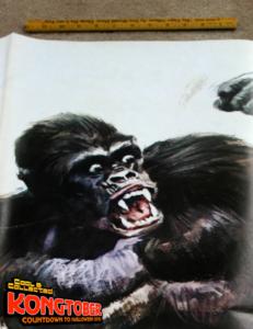 large vintage king kong italian movie poster