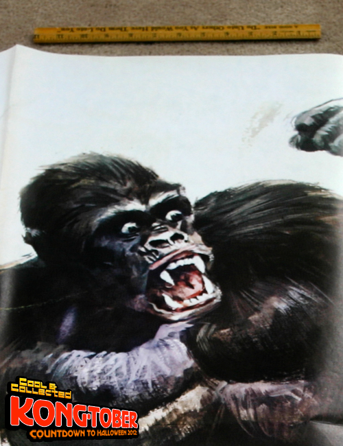 large vintage king kong italian movie poster
