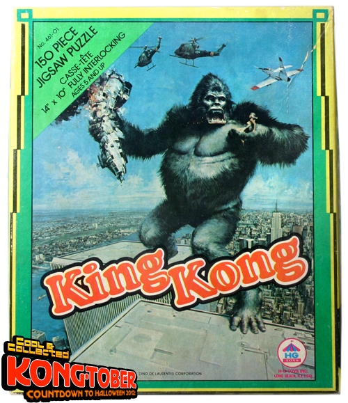 "king kong jigsaw puzzle 1976 ""Astride Towers"""
