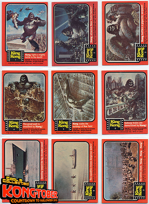Kongtober 12 1976 King Kong Topps Trading Cards Part 2