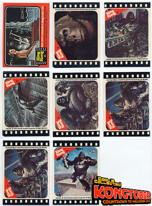 king kong topps trading cards 1976