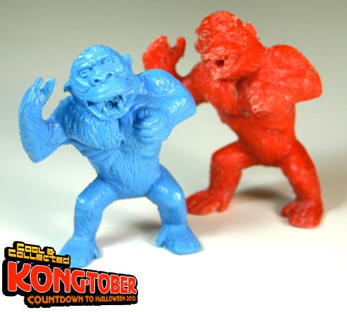 1964 palmer plastic king kong monster figure blue red