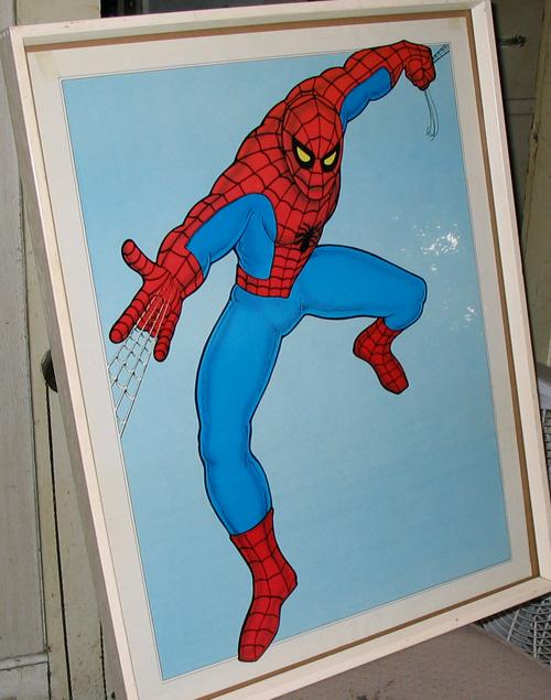 vintage spiderman poster