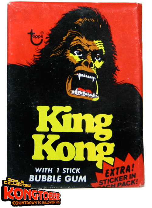 topps king kong trading cards wax pack