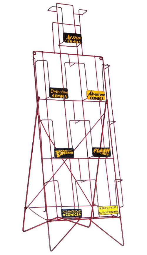 vintage comic book wire rack