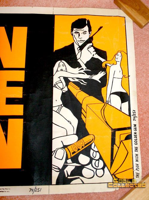 vintage rare -james bond the man with the golden gun movie poster banner