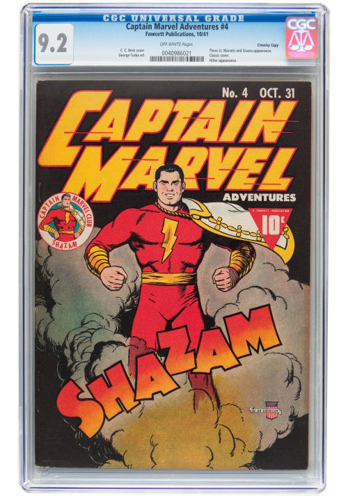 captain marvel comic book #4