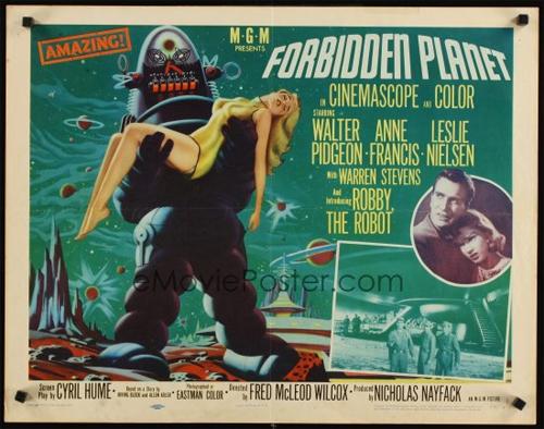 1956 forbidden planet half-sheet movie poster