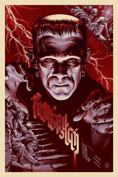frankenstein by martin ansin for mondo