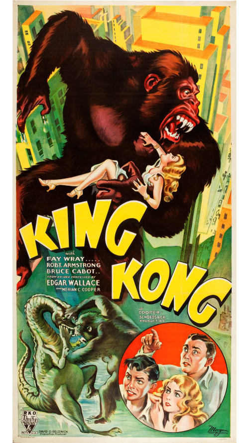 king kong RKO 3-sheet poster 1933