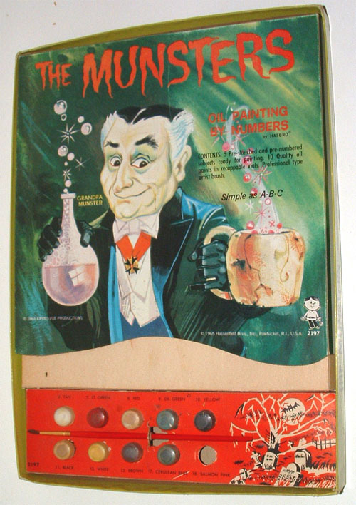 1965 munsters oil painting by numbers