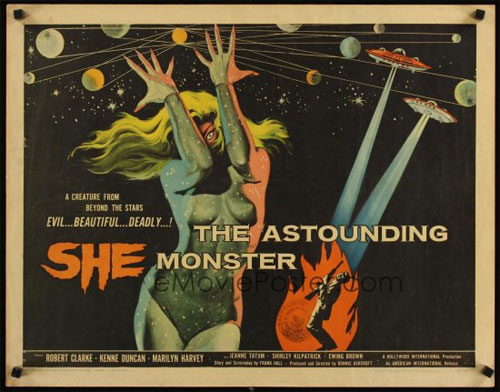 the astounding she monster poster
