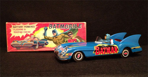 vintage Japanese battery operated batmobile