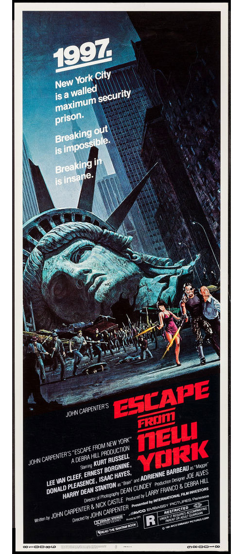 escape from new york movie poster insert