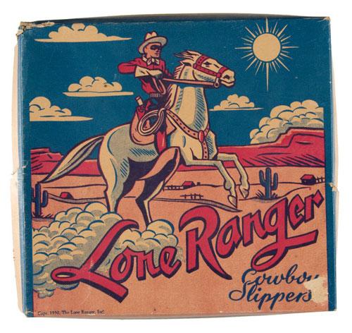 """LONE RANGER COWBOY SLIPPERS"" BOX"