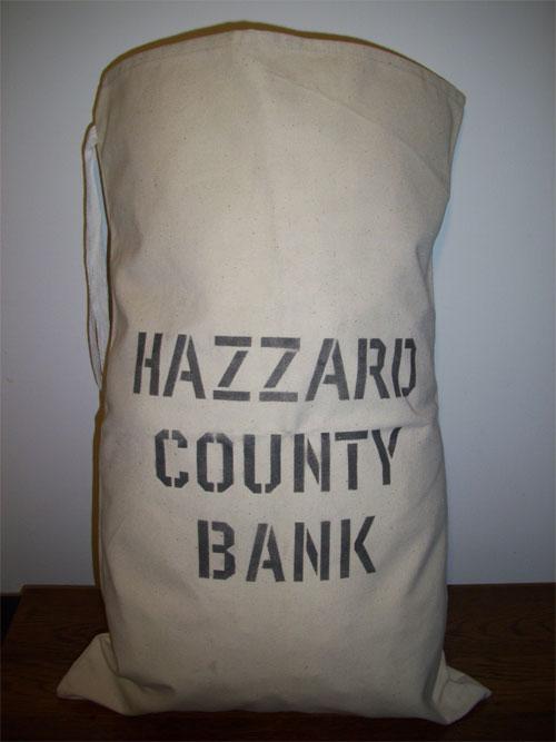 Dukes of Hazzard - bank bag prop