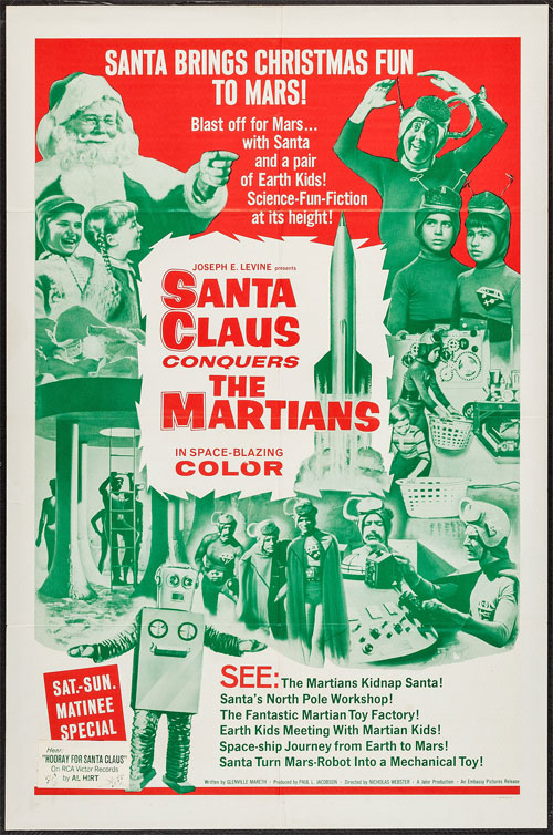 santa claus conquers he martians movie poster