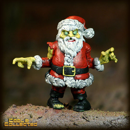 custom painted S.L.U.G. zombie santa