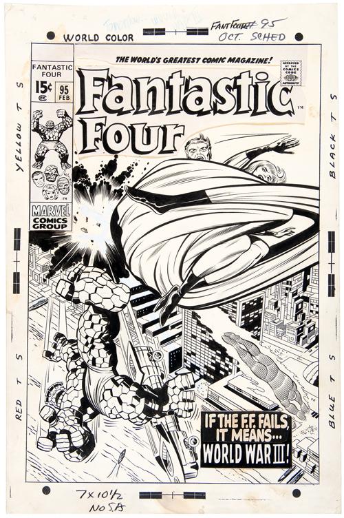 fantastic four #95 jack kirby original art