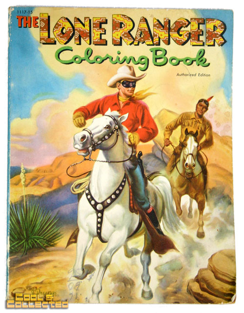 vintage lone ranger coloring book