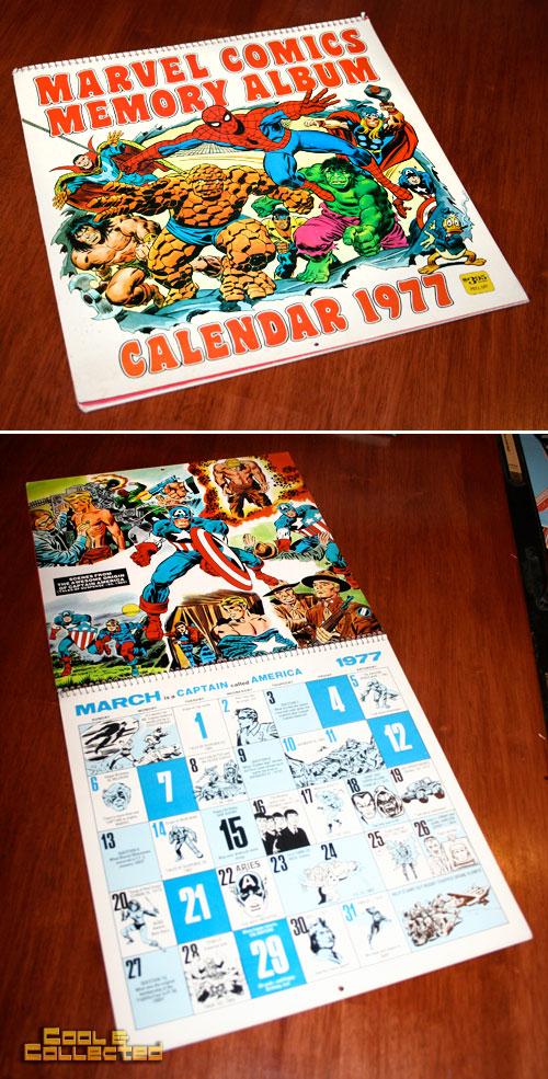 marvel calendar 1977