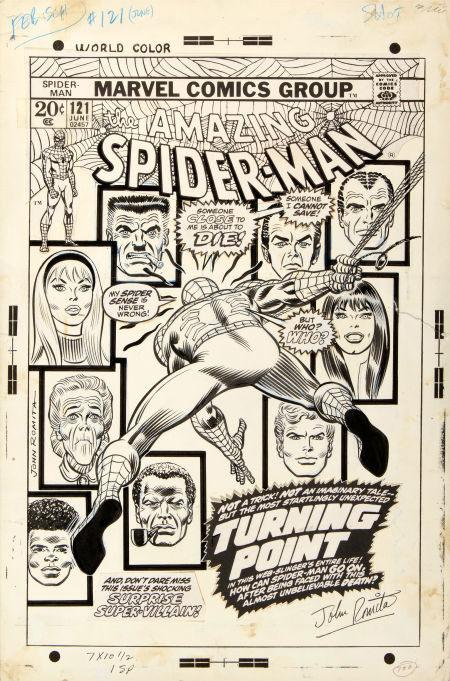 Spider-man #121 original cover art by John Romita, Sr.