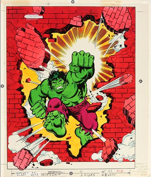 hulk puzzle original art