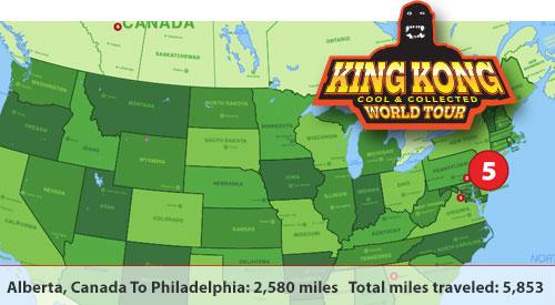king kong world tour