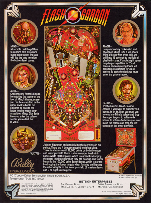pinball flash gordon