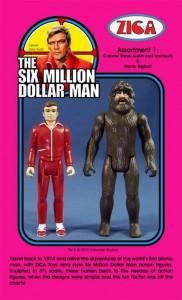 zica six million dollar man ACTION FIGURES