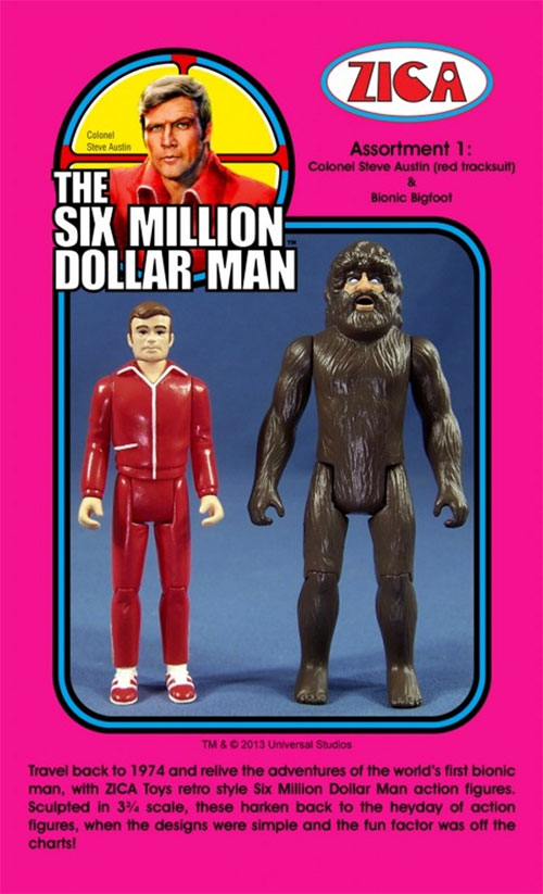 zica six million dollar man ACTION FIGURES