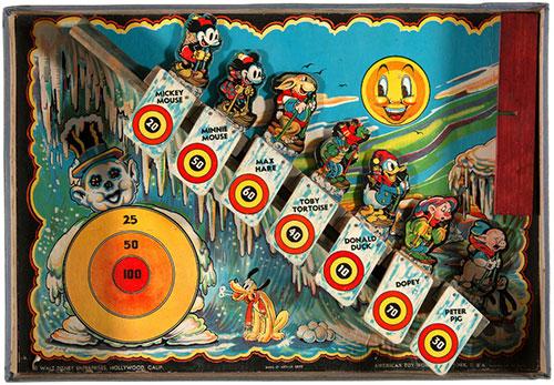 hakes disney ski jump target game