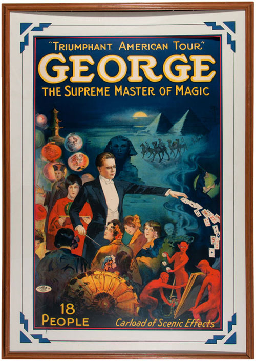 hakes george magician poster