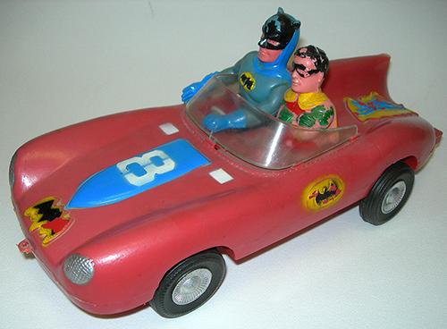 Bootleg Spider-Man and Batman toys