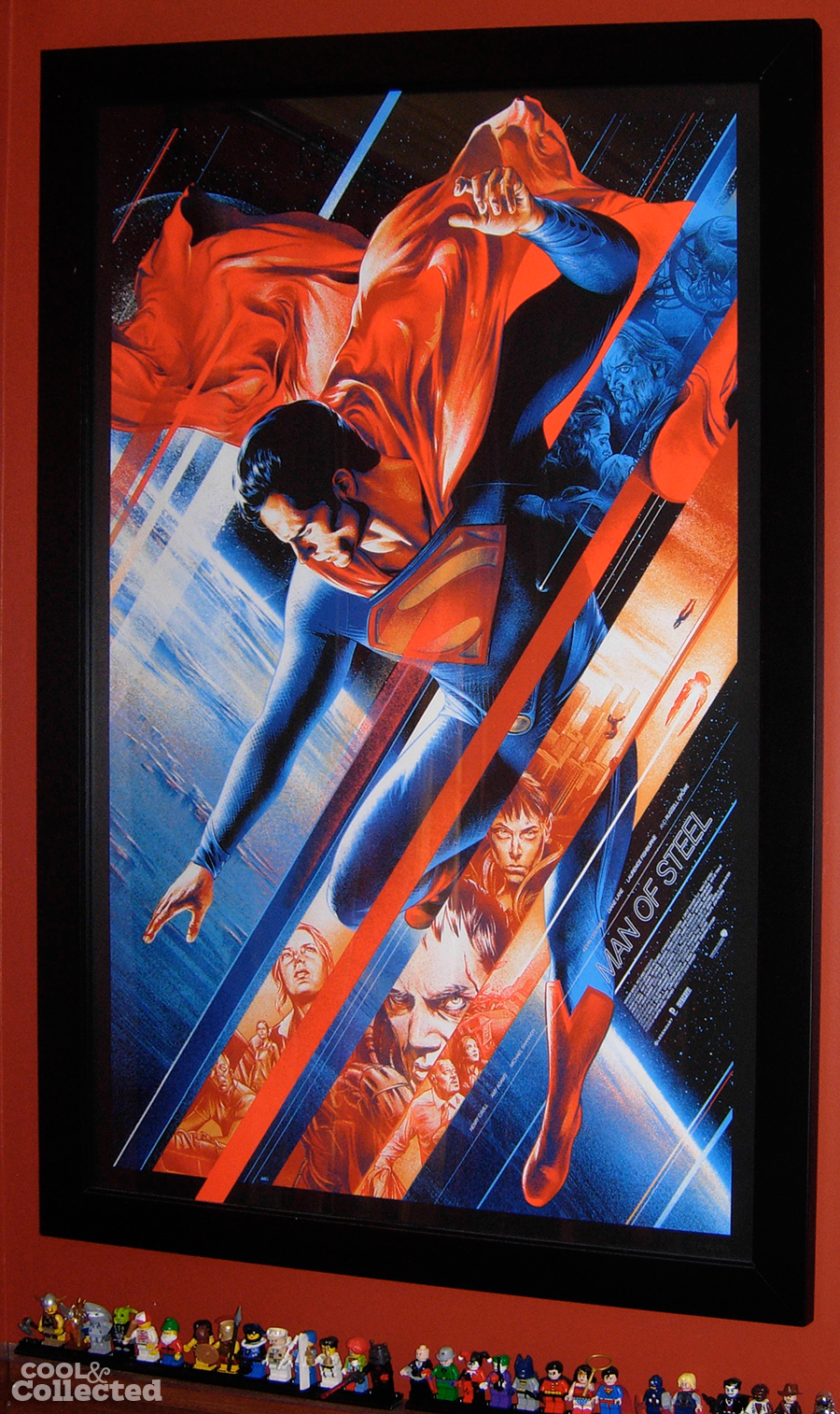 martin ansin superman man of steel mondo poster