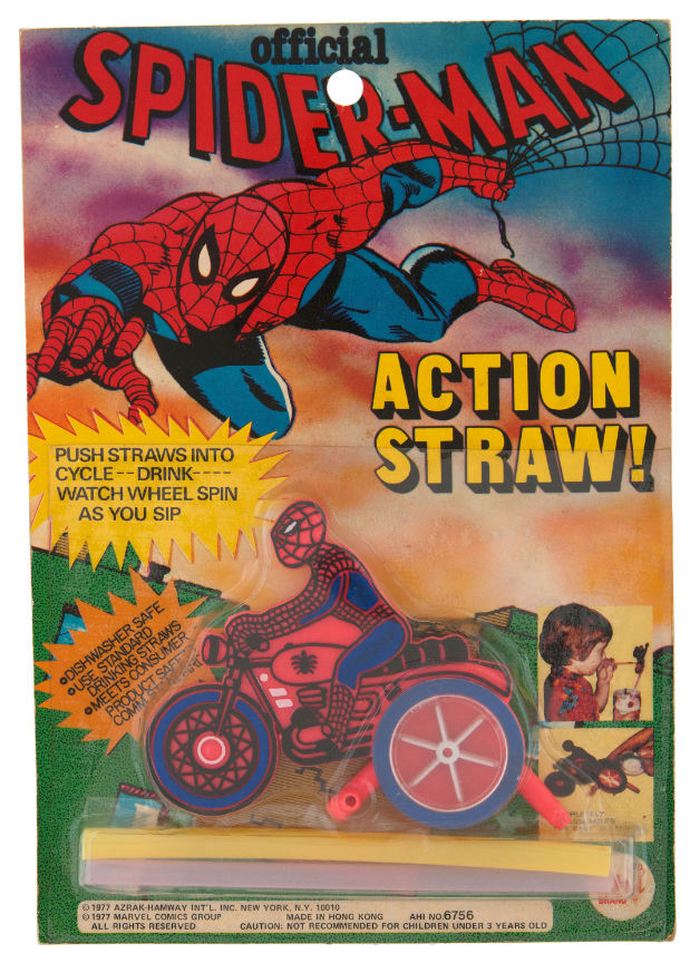 spiderman on a motorcycle vintage toy