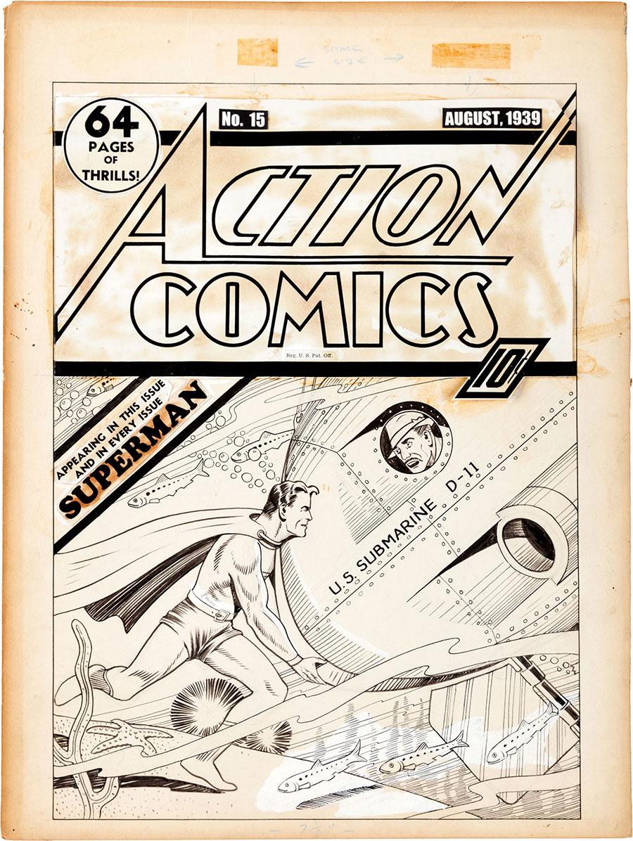 action comics #15 original art