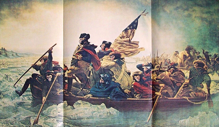 planet of the apes crossing the delaware
