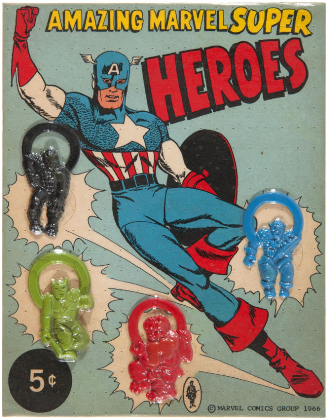marvel super heroes flexi-rings store card