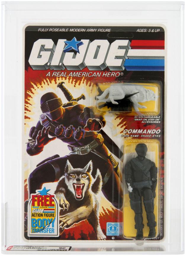 snake eyes commando GI joe action figure moc