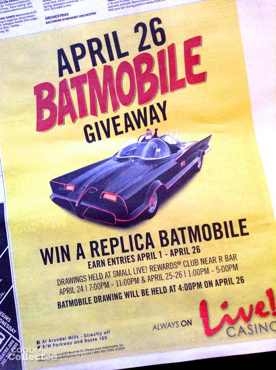 free batmobile giveaway