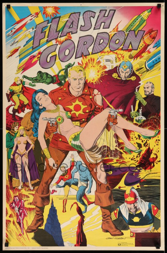 commercial flash gordon poster king features