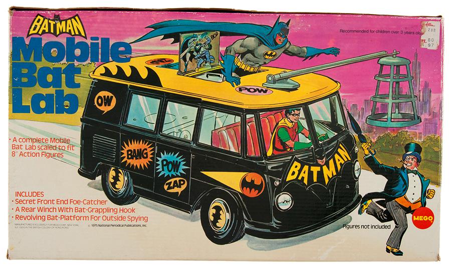 mego mobile bat lab batman