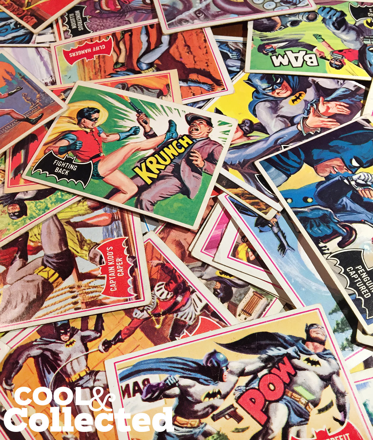 Three stacks of old comic book magazines at a flea | Stock Photo ...