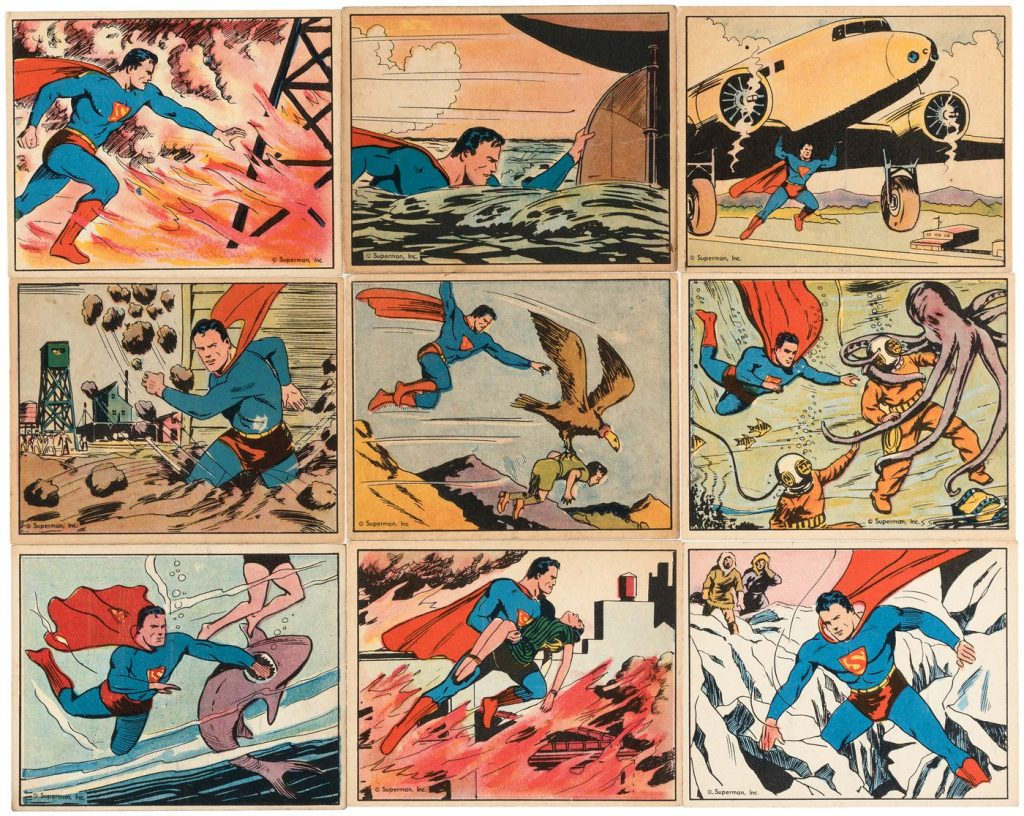 1940 superman gum cards
