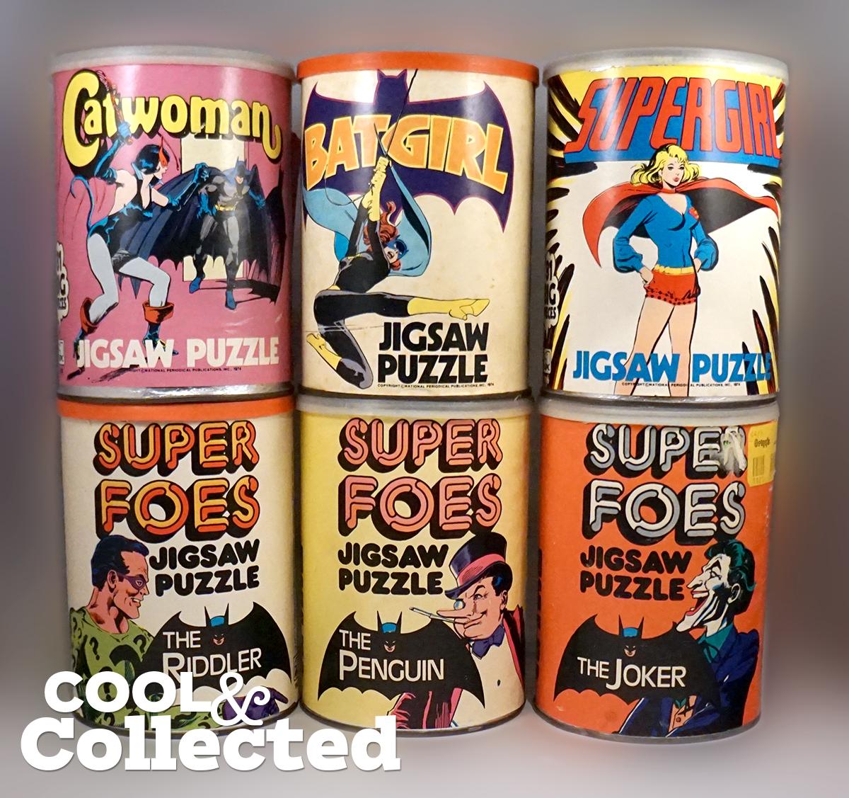 dc comics puzzle cans 1974
