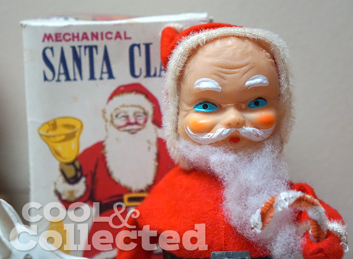 vintage wind-up santa collection